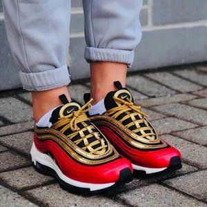 NWT Nike Air Max 97 Red/Gold Sneaker/Shoe